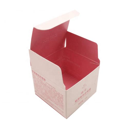 printed cream boxes