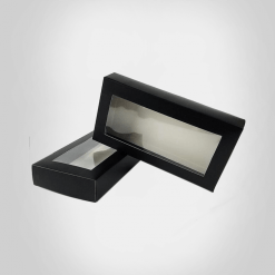 packaging box with clear window